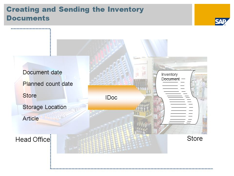 Creating and Sending the Inventory Documents