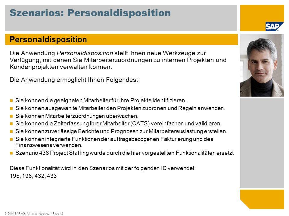 Szenarios: Personaldisposition
