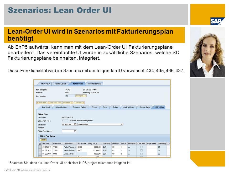 Szenarios: Lean Order UI
