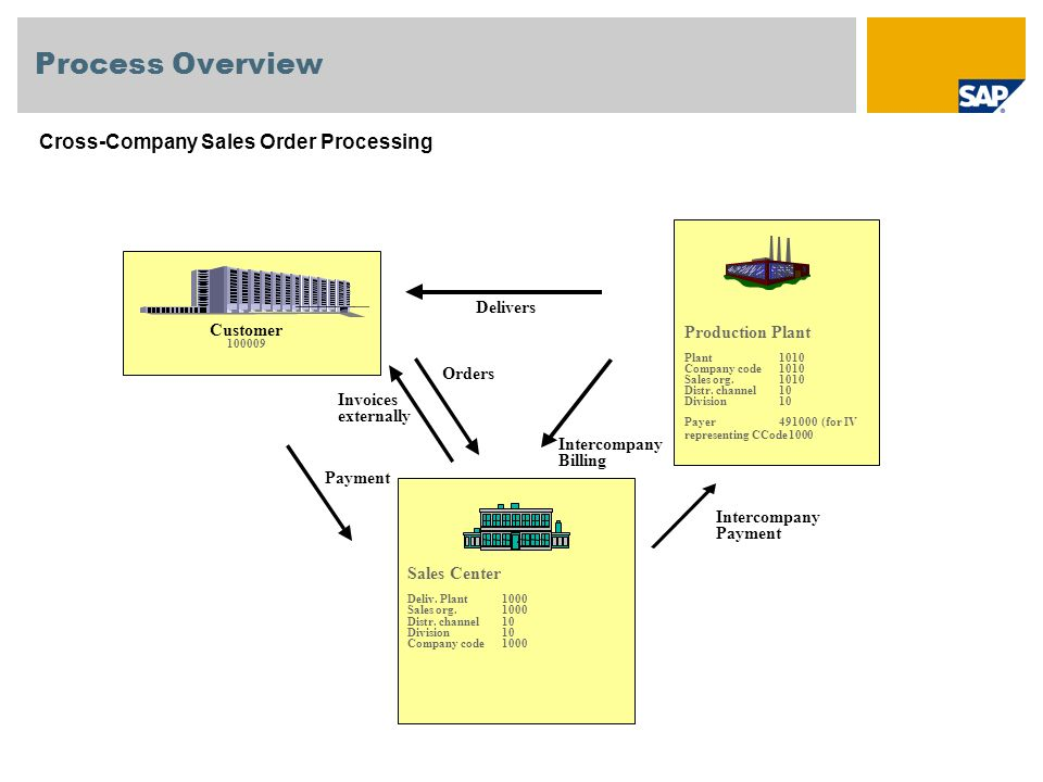 Process Overview Cross-Company Sales Order Processing Production Plant