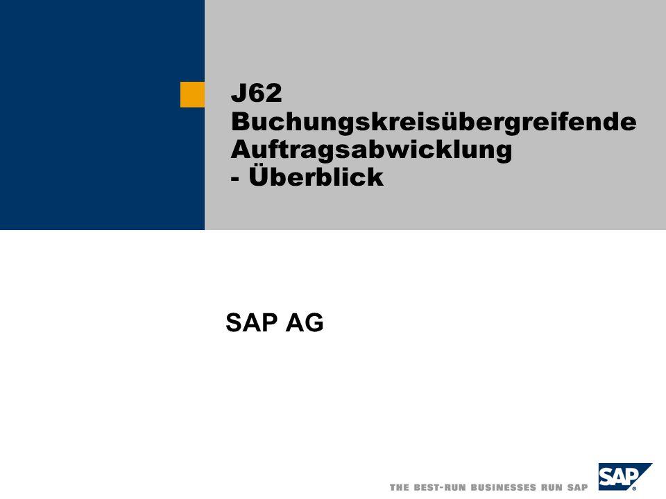 J62 Buchungskreisübergreifende Auftragsabwicklung - Überblick