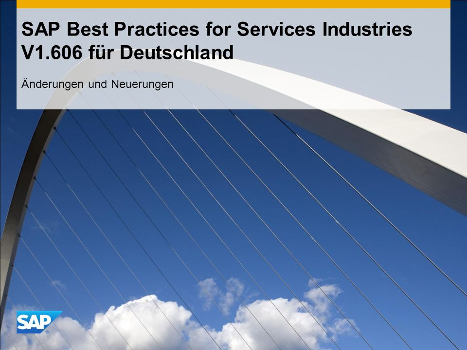 SAP Best Practices for Services Industries V1.606 für Deutschland