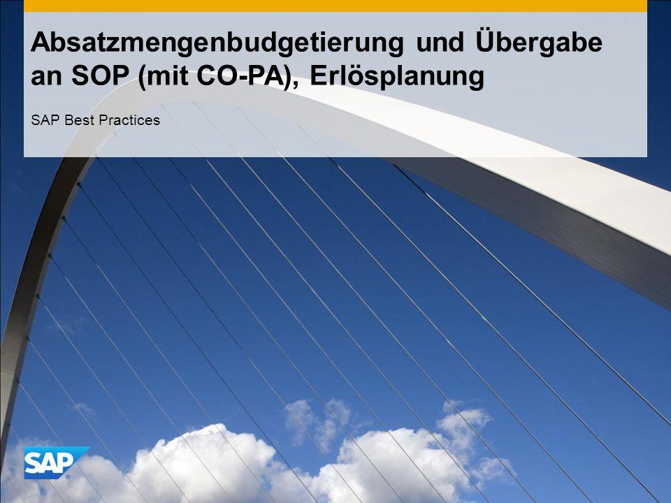 Absatzmengenbudgetierung und Übergabe an SOP (mit CO-PA), Erlösplanung