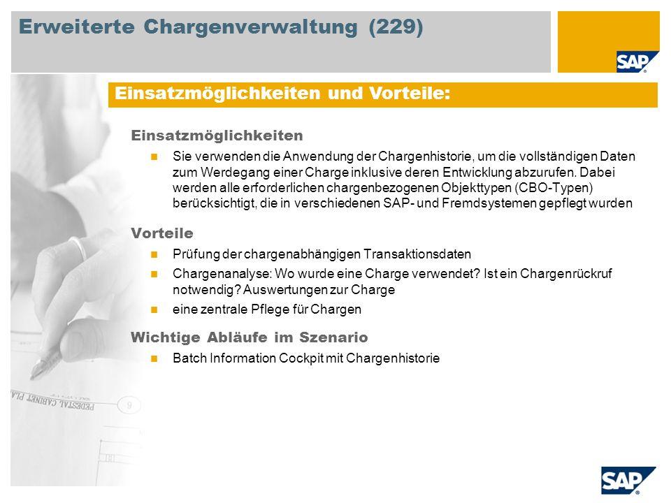 Erweiterte Chargenverwaltung (229)