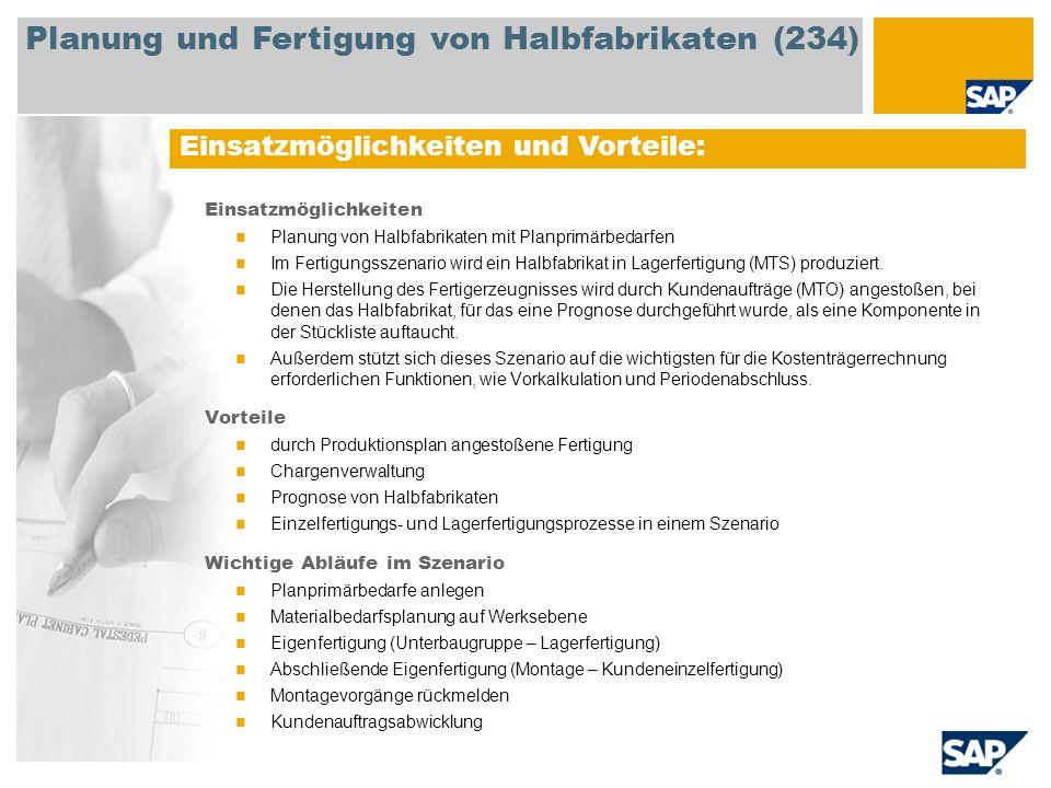 Planung und Fertigung von Halbfabrikaten (234)