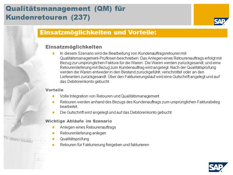 Qualitätsmanagement (QM) für Kundenretouren (237)