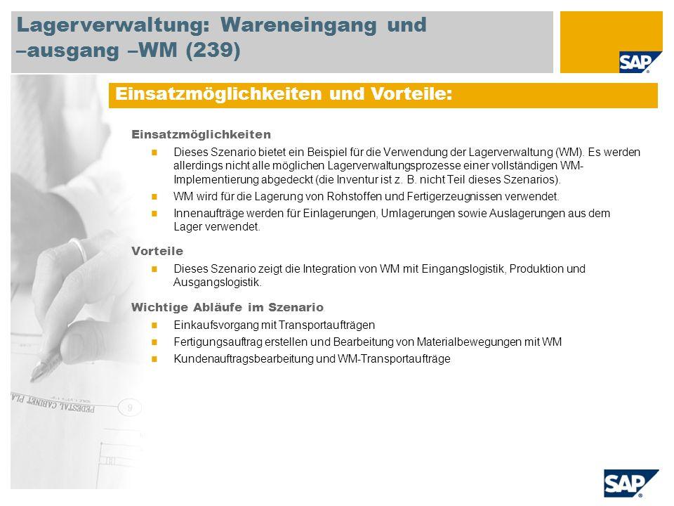 Lagerverwaltung: Wareneingang und –ausgang –WM (239)