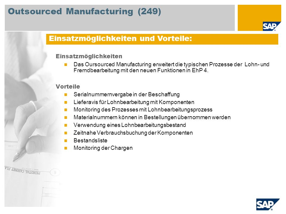 Outsourced Manufacturing (249)