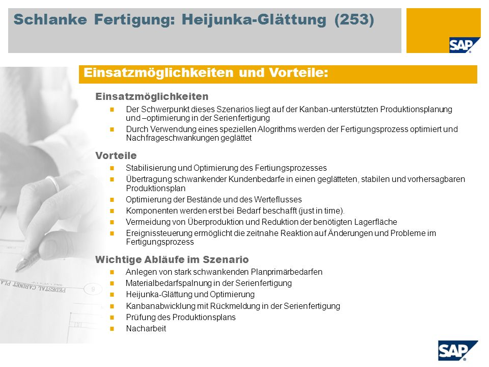 Schlanke Fertigung: Heijunka-Glättung (253)