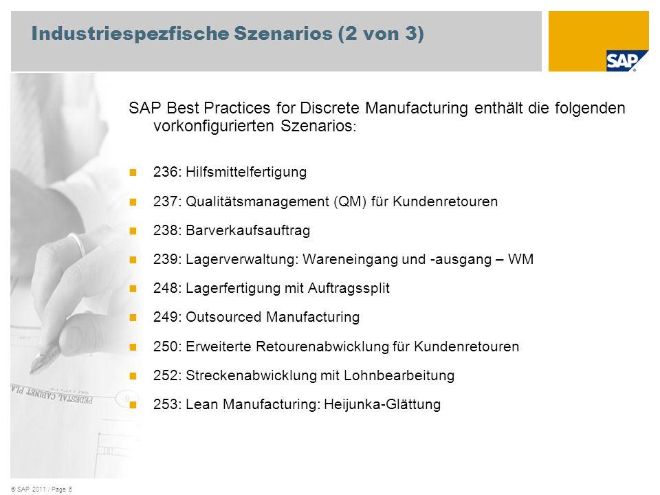 Industriespezfische Szenarios (2 von 3)