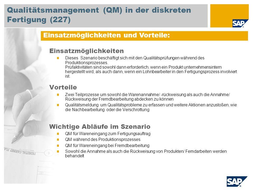 Qualitätsmanagement (QM) in der diskreten Fertigung (227)