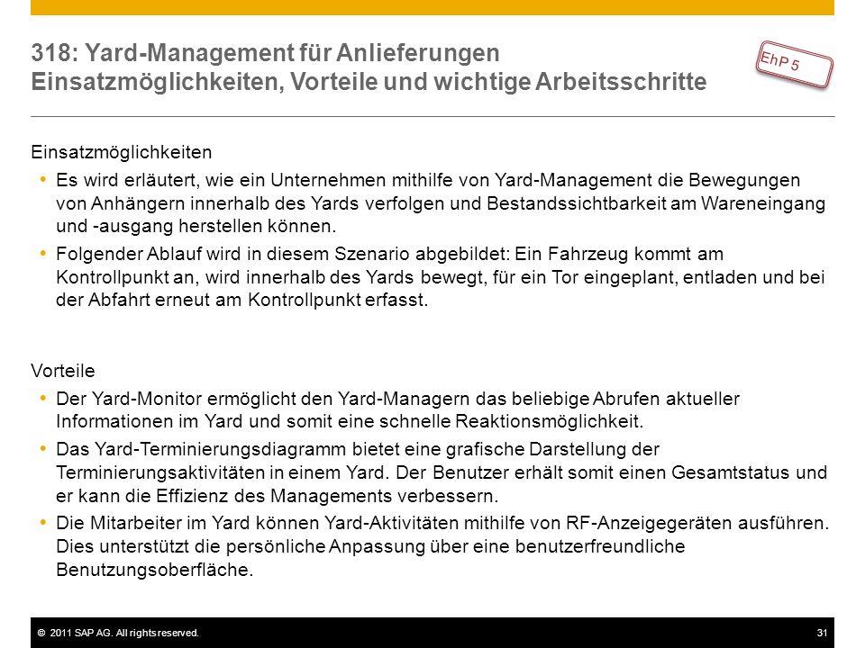 318: Yard-Management für Anlieferungen Einsatzmöglichkeiten, Vorteile und wichtige Arbeitsschritte