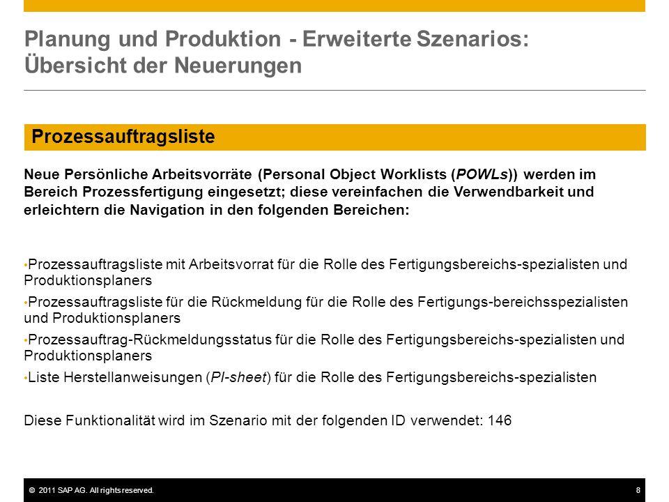Planung und Produktion - Erweiterte Szenarios: Übersicht der Neuerungen