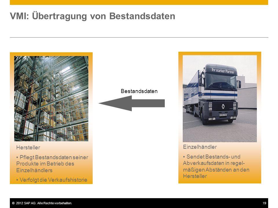 VMI: Übertragung von Bestandsdaten