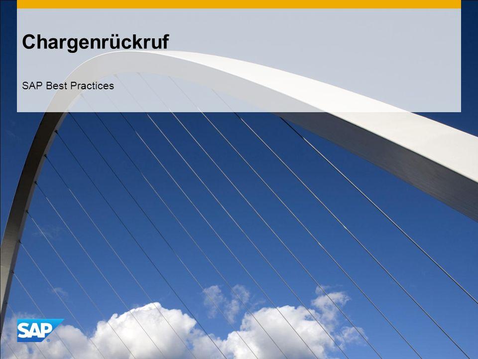 Chargenrückruf SAP Best Practices
