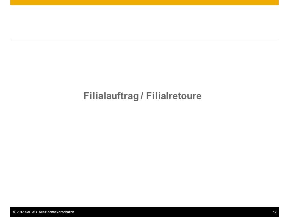 Filialauftrag / Filialretoure
