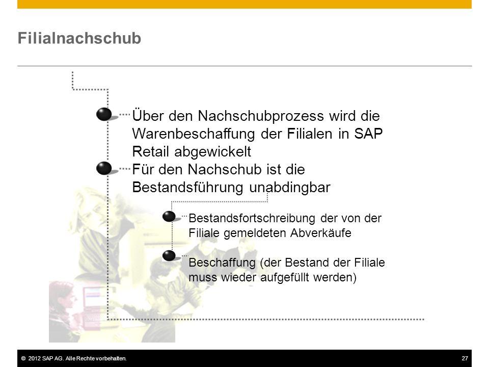 Filialnachschub Über den Nachschubprozess wird die Warenbeschaffung der Filialen in SAP Retail abgewickelt.