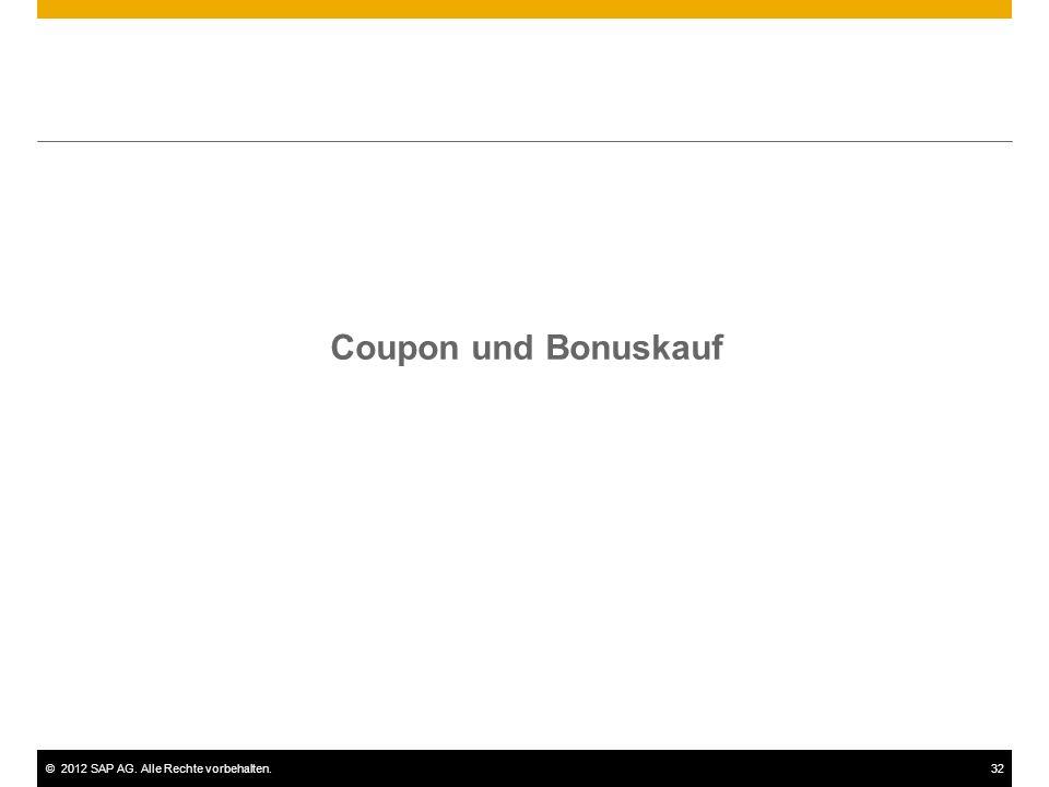 Coupon und Bonuskauf