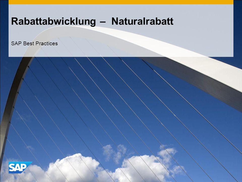 Rabattabwicklung – Naturalrabatt