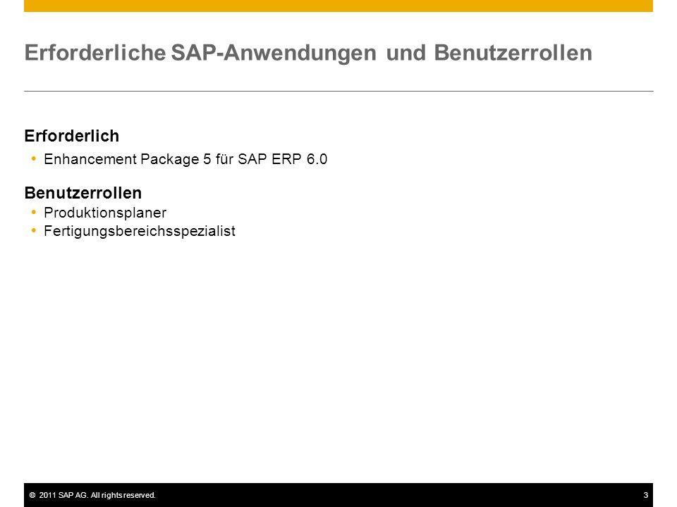 Erforderliche SAP-Anwendungen und Benutzerrollen