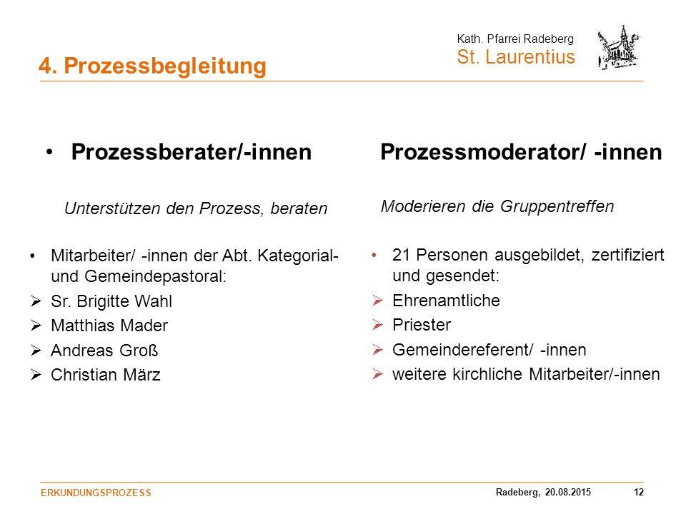 Prozessberater/-innen Prozessmoderator/ -innen