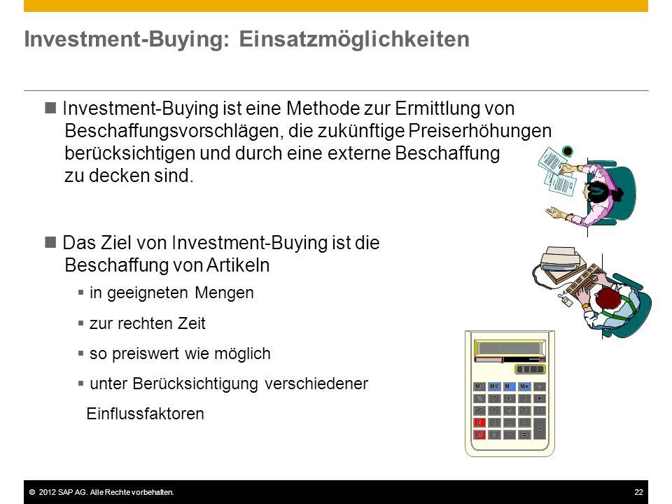 Investment-Buying: Einsatzmöglichkeiten