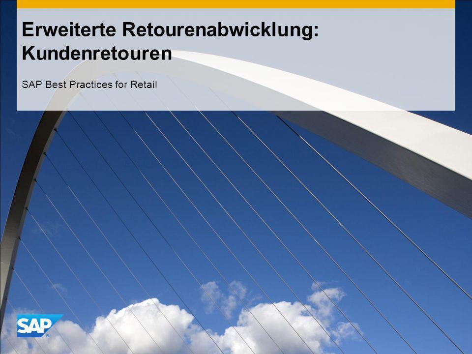 Erweiterte Retourenabwicklung: Kundenretouren