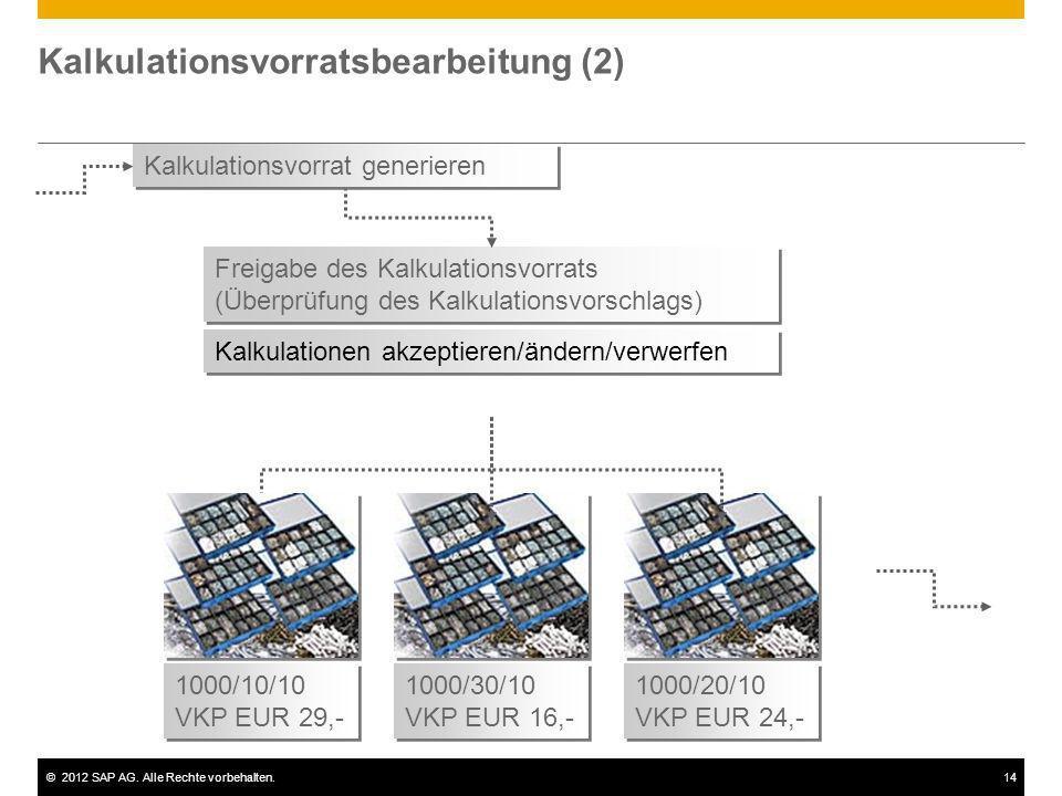 Kalkulationsvorratsbearbeitung (2)
