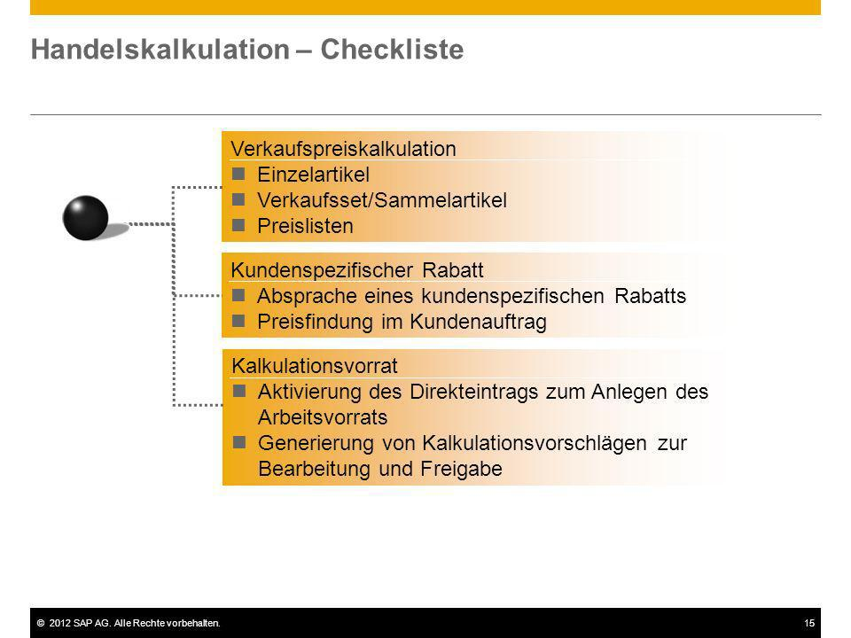 Handelskalkulation – Checkliste