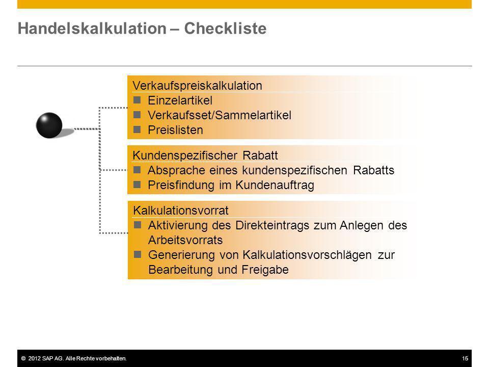 Handelskalkulation – Checkliste