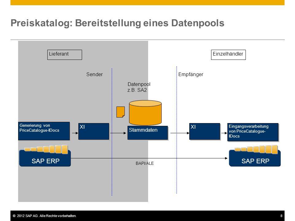 Preiskatalog: Bereitstellung eines Datenpools