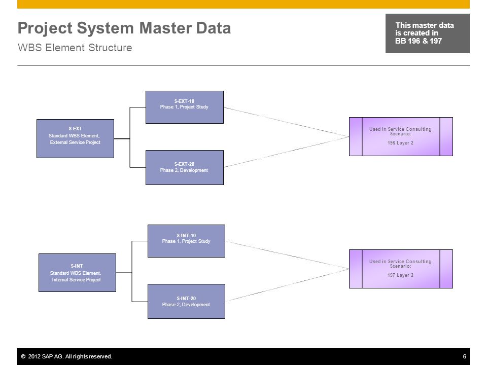 Project System Master Data