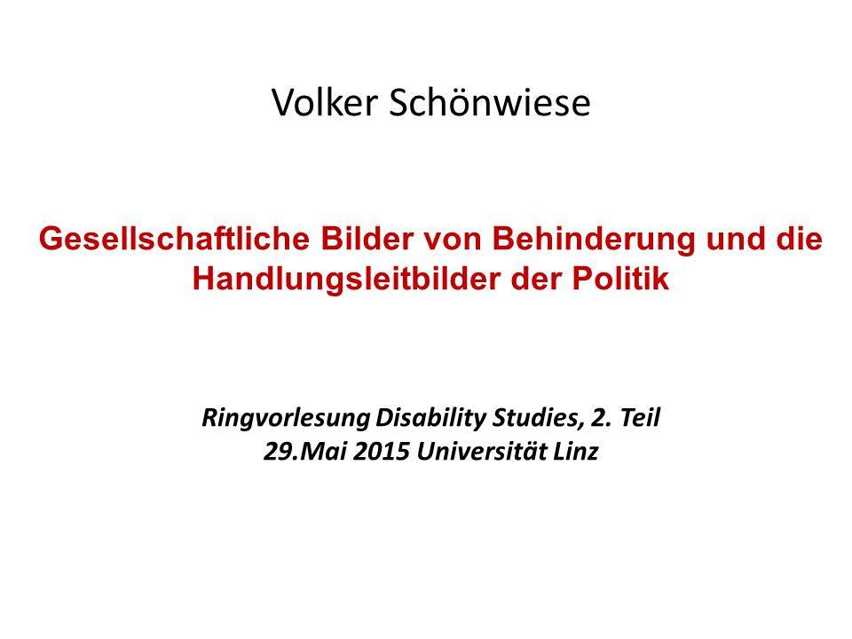 Ringvorlesung Disability Studies, 2. Teil