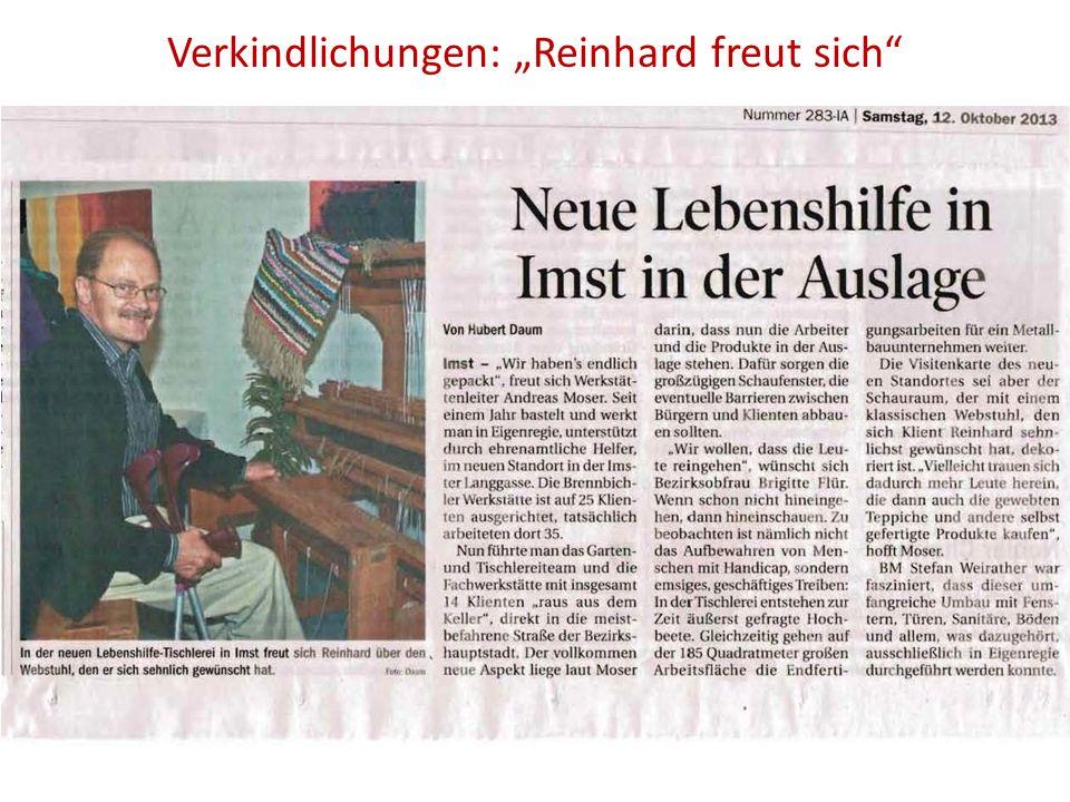 """Verkindlichungen: """"Reinhard freut sich"""