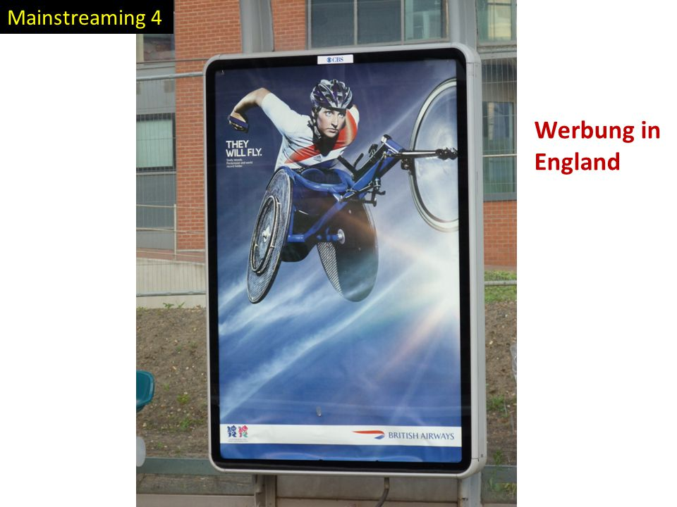 Mainstreaming 4 Werbung in England