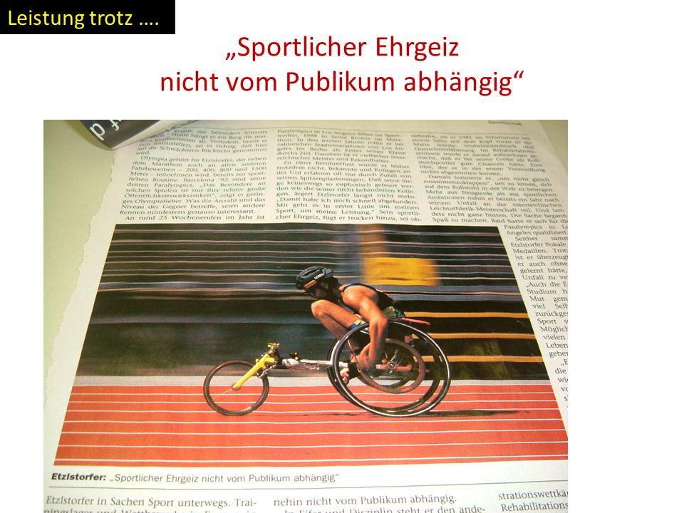 """""""Sportlicher Ehrgeiz nicht vom Publikum abhängig"""