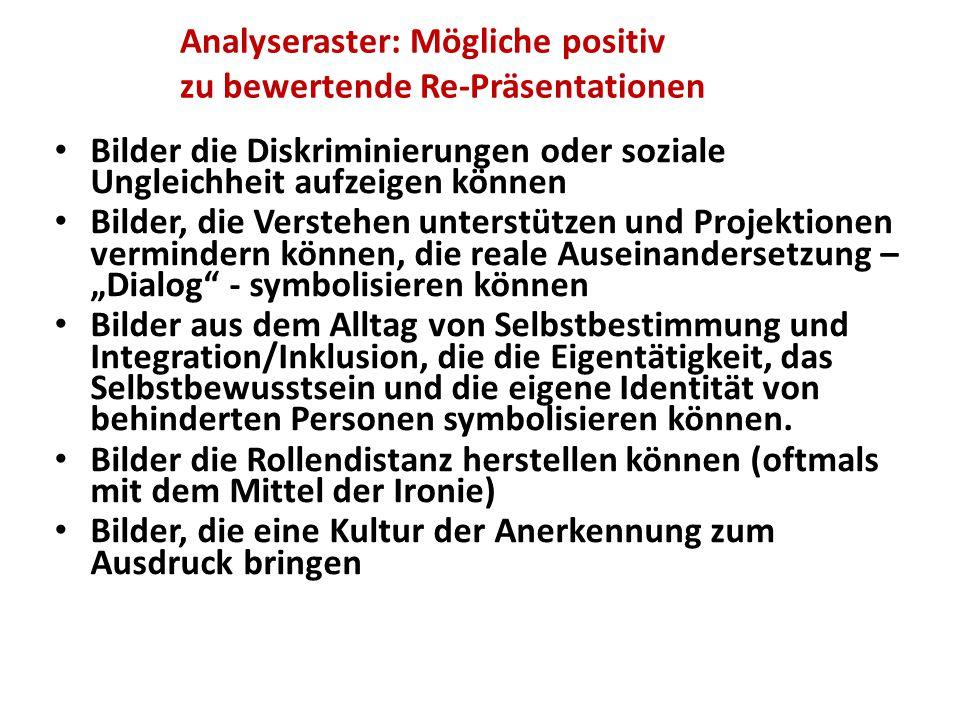 Analyseraster: Mögliche positiv zu bewertende Re-Präsentationen