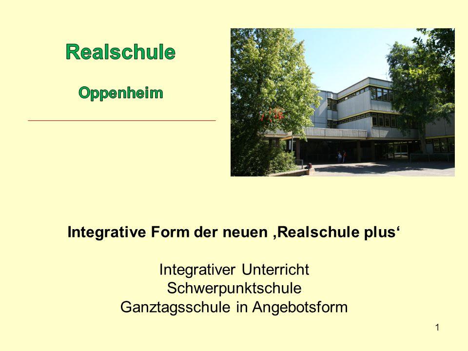 Realschule Oppenheim Integrative Form der neuen 'Realschule plus'