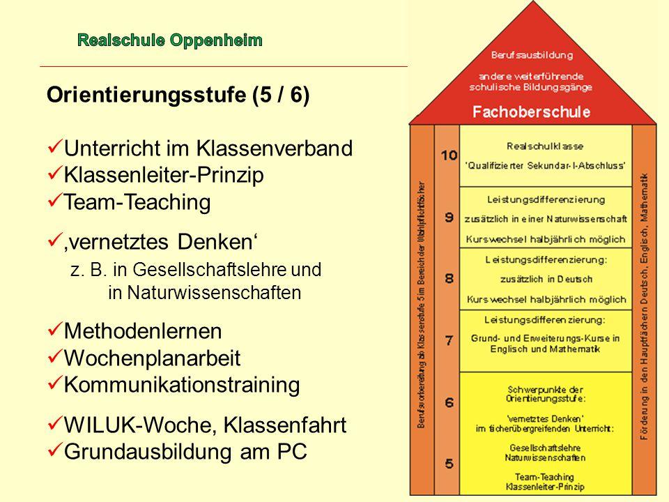 Orientierungsstufe (5 / 6) Unterricht im Klassenverband