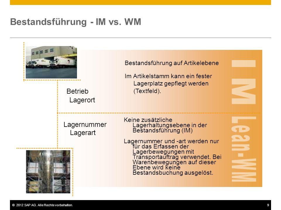 Bestandsführung - IM vs. WM