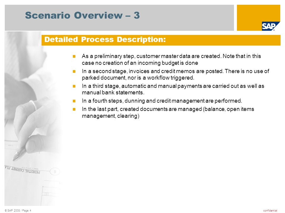 Scenario Overview – 3 Detailed Process Description: