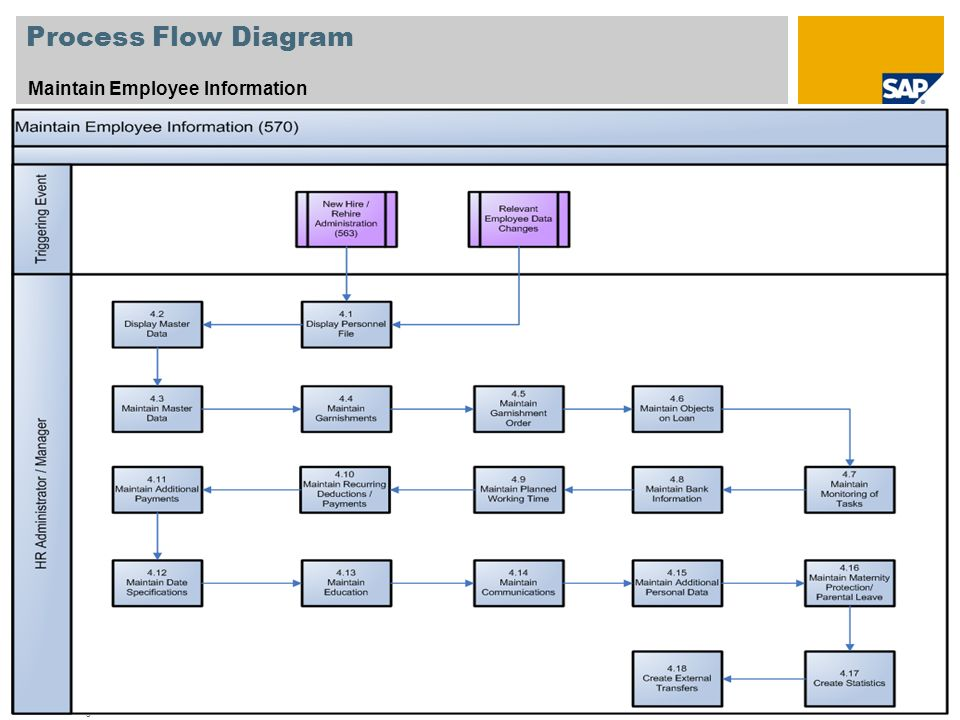 Process Flow Diagram Maintain Employee Information