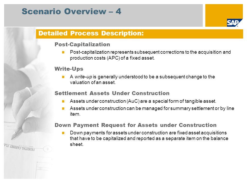 Scenario Overview – 4 Detailed Process Description:
