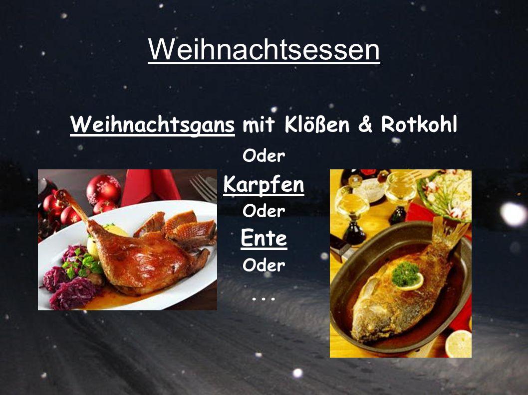 Weihnachtsgans mit Klößen & Rotkohl Oder Karpfen Ente ...