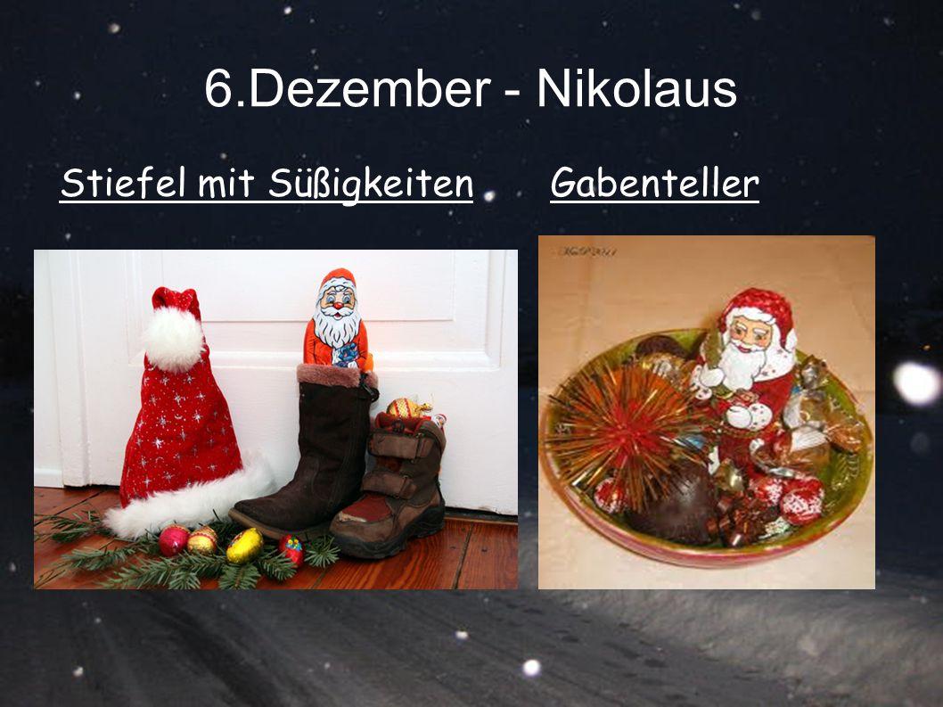 6.Dezember - Nikolaus Stiefel mit Süßigkeiten Gabenteller