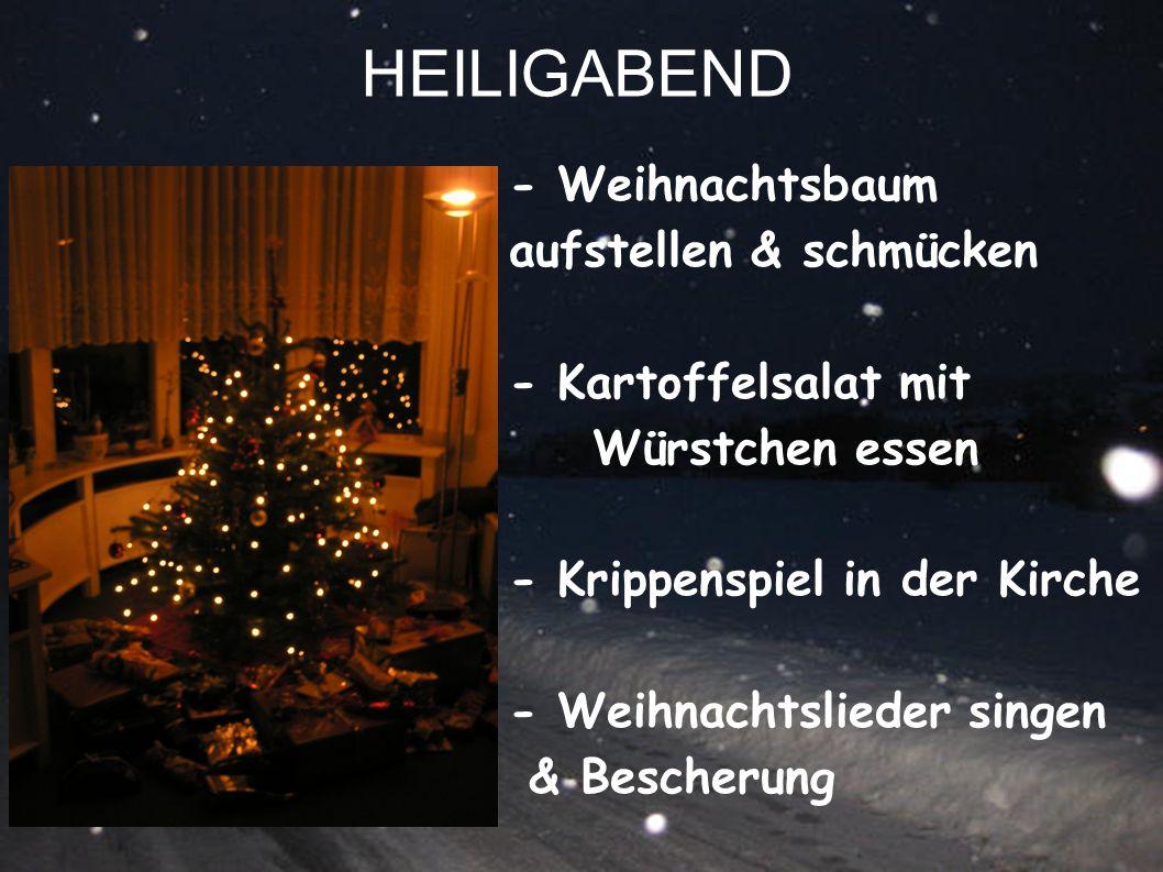 HEILIGABEND - Weihnachtsbaum aufstellen & schmücken
