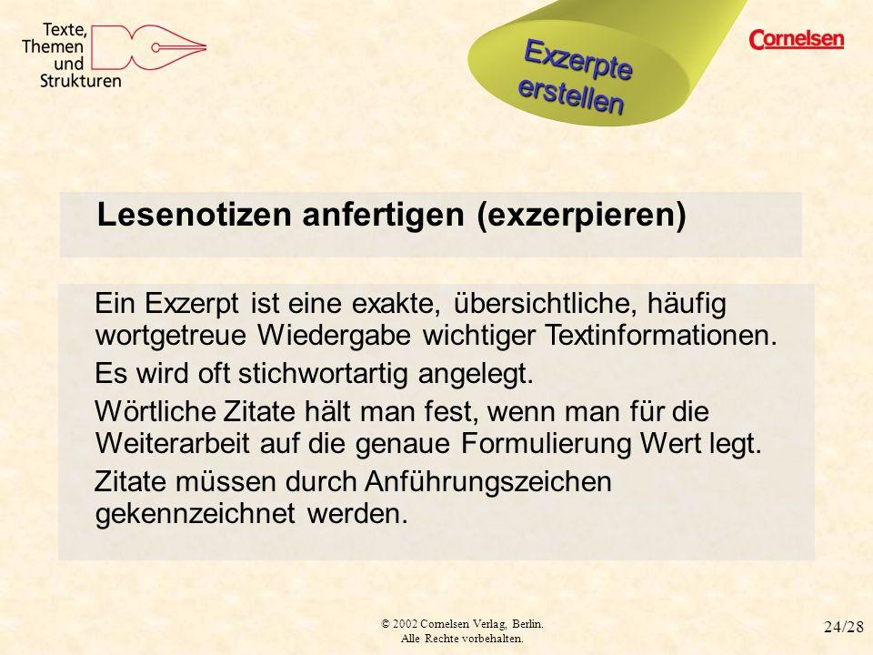 Lesenotizen anfertigen (exzerpieren)