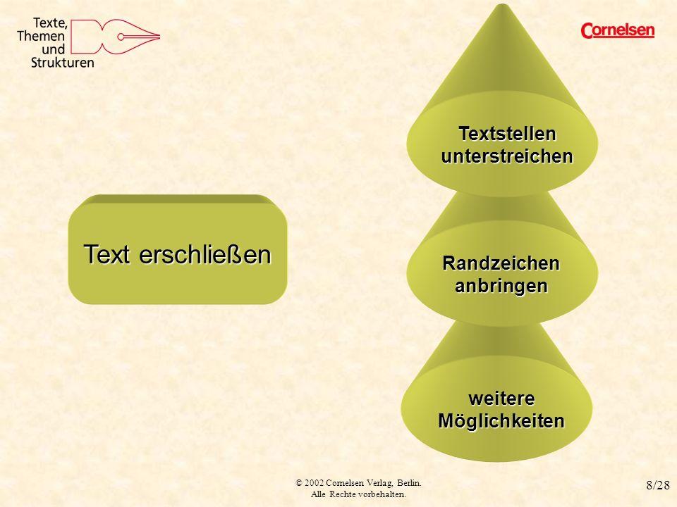 Textstellen unterstreichen Randzeichen anbringen weitere Möglichkeiten