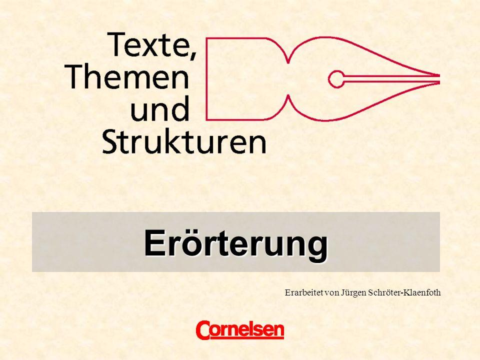 Titel Erörterung Erarbeitet von Jürgen Schröter-Klaenfoth