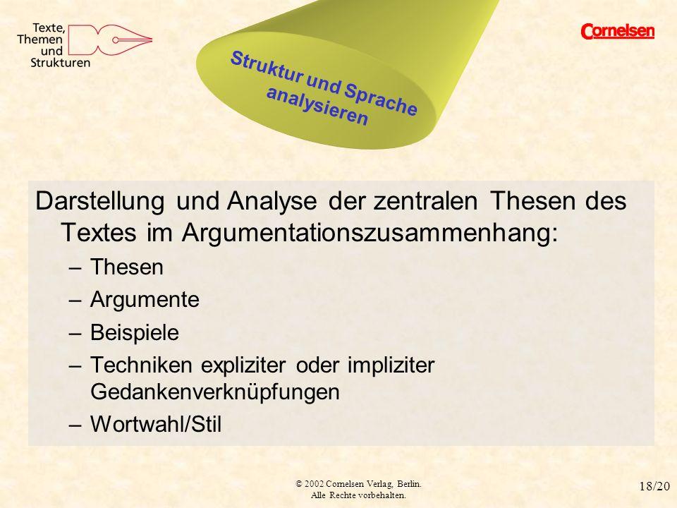 Struktur und Sprache analysieren